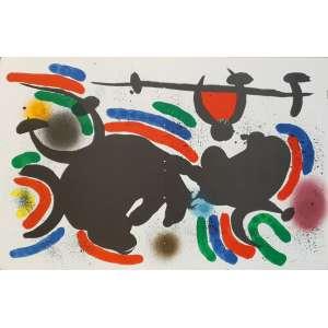 Joan Miró - Litografía original IV. Litografia, 33,1x51 cm, sem data, sem assinatura. Sem moldura.<br />