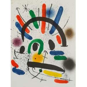 Joan Miró - Litografía original II. Litografia, 33,8x25,2 cm, sem data, sem assinatura. Sem moldura.<br />