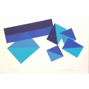 Piero Dorazio - Sem título. Litografia - 121/150, 24x36 cm, 1995, ACID. Sem moldura.<br />
