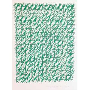 Piero Dorazio - Sem título. Litografia, 38x28 cm, 1990, ACID. Sem moldura.<br />