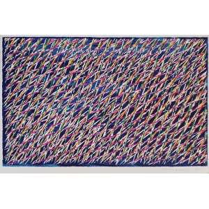 Piero Dorazio - Sem título. Litografia, 36,7x55 cm, 1984, ACID. Sem moldura.<br />
