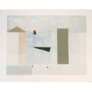 Mauro Casarin - Sem título. Litografia com textura - 64/90, 55x70,5 cm, 1999, ACID. Sem moldura.<br />