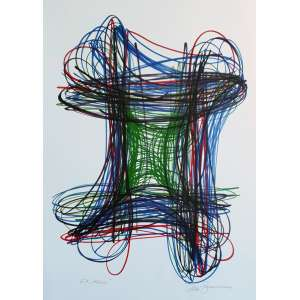 Helmut Zimmermann - Kosmos. Litografia - E.A., 69x49 cm, sem data, ACID. Sem moldura.<br />