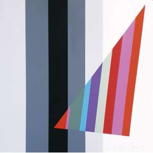 Eugenio Carmi - Sem título. Serigrafia - E.A.-XII/XX, 45x45 cm, 1978, ACID. Sem moldura.<br />