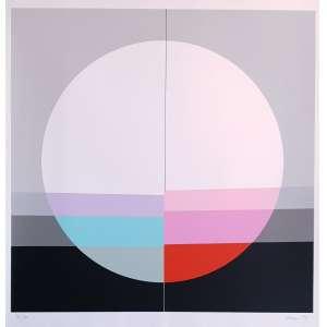 Eugenio Carmi - Sem título. Serigrafia - 56/70, 65x63 cm, 1984, ACID. Sem moldura.<br />