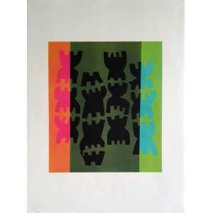 Giuseppe Capogrossi - Sem título. Litografia - 17/75, 76x56 cm, sem data, ACID. Sem moldura.<br />