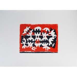 Giuseppe Capogrossi - Opale 8. Litografia sobre papel artesal - E.d.A., 56x76 cm, sem data, ACID. Sem moldura.<br />