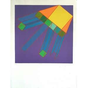 Achilli Perilli - Valitauz. Litografia - XIV/XXXIII, 76x57 cm, 1982, ACID. Sem moldura.<br />