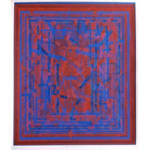 Rüdiger Tamschick - Série Cambodge. Serigrafia - 43/50, 70x60 cm, 1994, ACI. Sem moldura.<br />
