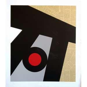 Ray Elamn - Sox. Serigrafia e colagem - 123/160, 81,5x71 cm, 1979, ACID. Sem moldura.<br />