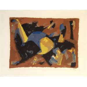 Rico Blass - Sem título. Serigrafia - 2/70, 50x65 cm, sem data, ACID. Sem moldura.<br />