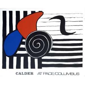 Alexander Calder - Calder at Pace/Columbus. Litografia, 58,5x73,5 cm, sem data, ACID (na pedra litográfica). Sem moldura.<br />