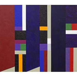 Sued, Eduardo - Sem título. Acrílica sobre tela, 70x80 cm, 2014, A.V. Adquirido direto do artista, com moldura. <br />