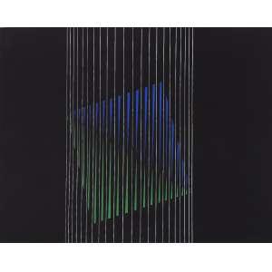 Charoux, Lothar - Sem título. Guache sobre papel, 35x50 cm, déc. 70, A.C.I.D. Com moldura.<br />