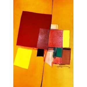 Silvio Oppenheim - Sem título. Acrílica sobre tela, 130x90 cm, 1980, A.C.D. Com moldura.<br />