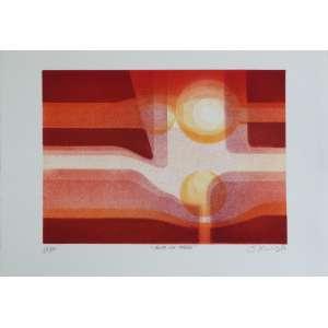 Savério Castelano - Asas na Tarde - Litografia 14/100 - 25x35cm - 1987 - ACID
