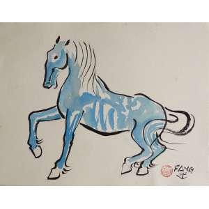 Fang - Cavalo - Nanquim e aquarela sobre papel - 27x35cm - ACID