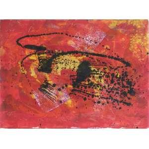 Lidia Lisboa - Galaxia - Técnica mista sobre cartão - 28x38cm - 1994 - ACID