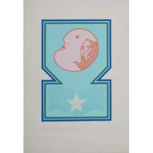 Athos Bulcão - Sem Título I - Serigrafia 2/75 - 75x54cm - colada em foam - 1978 - ACID