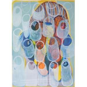 Renata Egreja - Sem Título - Aquarela sobre papel - 76x56cm (95x75cm com moldura) - 2010 - Com certificado da Galeria Zipper
