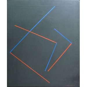 Judith Lauand - Concreto - Óleo sobre tela - 50x60cm - 1979 - Assinada no verso - com certificado da artista