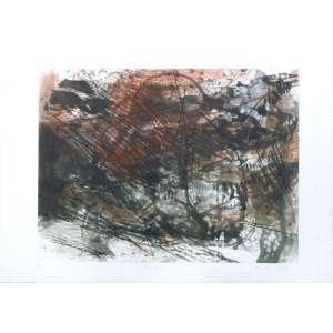 Ermelindo Nardin - Paisagem 50 - Gravura em metal 9/20 - 52x75cm - pontos de acidez - ACID