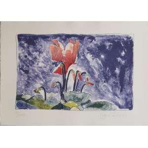Guyer Salles - Flores - Litografia 73/100 - 35x50cm - 1989 - ACID