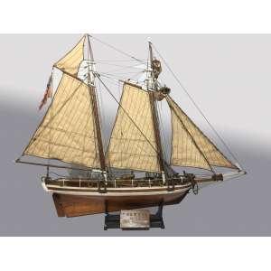 Modelo Barco Militar americano Alert 1818 N.Y madeira construido por M. Horn em 1991 - 0,65cm comprimento