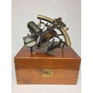 Sextante Hezzanith Mark II - caixa couro completo