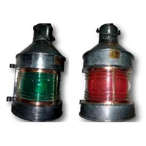 Lanternas originais de Flanders verde e vermelha - 64 x 33 cm cada