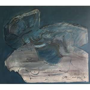 CELSO ORSINI - Sem Título - Acrílico sobre Tela - 1,40 x 1,60 cm - Assinado canto inferior direito datado 91