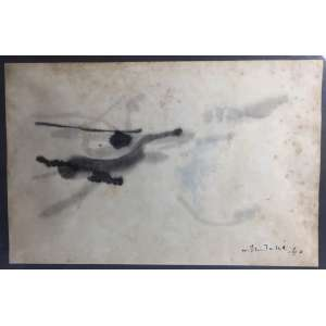 W.TSUTAKA - Moderno - Técnica sobre papel - Assinado Canto Direito 1960 - 49x32