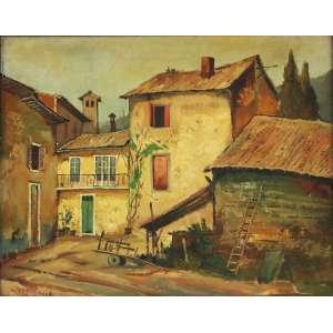 """Omar Pellegatta - Óleo sobre madeira - 40 x 50 cm - """"Toledo – Espanha"""" - ass. inferior esquerdo"""