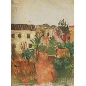 """Bonadei, Aldo - óleo sobre madeira - 15 x 10 cm - """"Paisagem"""" - ass. verso - 1929 - Com certificado - de Soraia Cals - Escritório de Arte"""