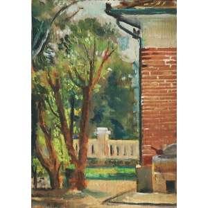 """Bonadei, Aldo - óleo sobre madeira - 15 x 10 cm - """"Casa do Artista em Moema"""" - ass. inferior esquerdo - 1943/1944 - Com certificado - de Soraia Cals - Escritório de Arte"""
