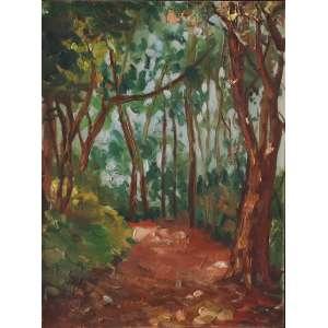 """Bonadei, Aldo - óleo sobre tela colada - em cartão - 31,5 x 23,5 cm - """"Caminho das Árvores"""" - Com certificado - de Soraia Cals - Escritório de Arte"""