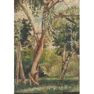 """Bonadei, Aldo - óleo sobre tela - 16,5 x 12 cm - """"Paisagem"""" - Com certificado - de Soraia Cals - Escritório de Arte"""