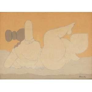 """Milton Dacosta - Óleo sobre tela - 16 x 22 cm - """"Vênus e Pássaros"""" - ass. inferior direito - 1981"""
