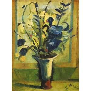 """Mick Carnicelli - óleo sobre tela - 80 x 60 cm - """"Vaso de Flores"""" - ass. inferior direito - 1954"""