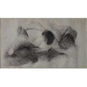 """Samson Flexor - bico de pena - 17 x 29 cm - """"Sem Título"""" - ass. inferior esquerdo - 1968 - Com cachê da Galeria Ricardo Camargo"""