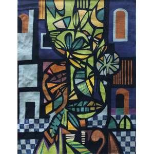 """Genaro de Carvalho - tapeçaria - 202 x 158 cm - """"Sem Título"""" - ass. inferior direito - 1973"""