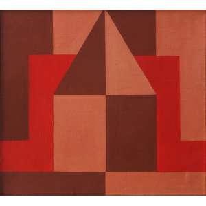 """Arnaldo Ferrari - têmpera sobre tela - 66 x 74 cm - """"Sem Título"""" - ass. verso - 1965 - Reproduzido no livro do - artista – pág. 137"""
