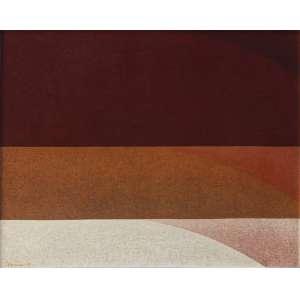 """Tomie Ohtake - óleo sobre tela - 73 x 92 cm - """"Sem Título"""" - ass. inferior esquerdo - 1979 - Registrada no Instituto Tomie Ohtake – P79-6 - Reproduzida no livro da artista"""