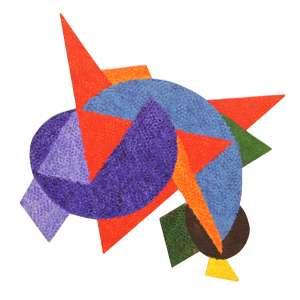 """Claudio Tozzi - acrílica sobre tela colada em madeira - 61 x 62 cm - """"Varal (Fragmento)"""" - ass. verso - 1990 - Obra participou da XXI Bienal de SP - Com certificado do artista"""