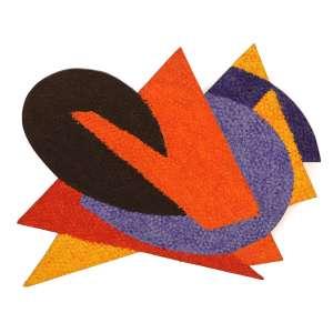 """Claudio Tozzi - acrílica sobre tela colada em madeira - 52 x 64 cm - """"Varal (Fragmento)"""" - ass. verso - 1990 - Obra participou da XXI Bienal de SP - Com certificado do artista"""
