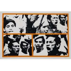 """Claudio Tozzi - serigrafia - 50 x 68 cm - """"Multidão"""" - ass. inferior direito - 1972 - PA - Reproduzida no catálogo da exposição do Artista na Caixa Cultural São Paulo - Com certificado do artista"""