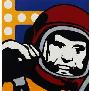 """Claudio Tozzi - serigrafia sobre papel Fabriano 100% algodão - 125 x 125 cm - """"Astronauta"""" - ass. inferior direito - T 14/16 - Edição de baixa tiragem comemorativa - Com certificado do artista"""