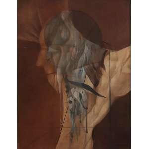 """Bernardo Cid - óleo sobre tela - 80 x 60 cm - """"Sem Título"""" - ass. inferior direito - 1977 - Reproduzido no catálogo do artista - da Caixa Cultural SP – DF"""