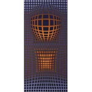 """Victor Vasarely - gravura - 104 x 62 cm - """"Sem Título"""" - Chancelada pela Galeria - Denise Rene – Editeur - T 124/190"""