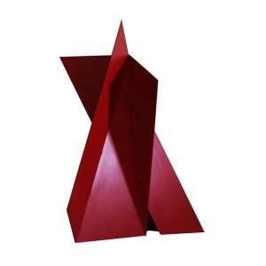 "Emanoel Araújo - escultura de ferro - e tinta automotiva - 73 x 60 x 50 cm - ""Sem Título"" - ass. - 2014"